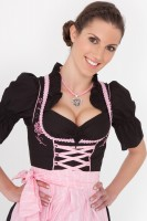 3-piece sweet black dirndl with black blouse