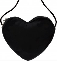 Preview: Heart-Shaped Handbag, Black