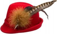 Vorschau: Filz-Trachtenhut Mia rot