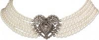 Vorschau: Perlen-Collier Eugenie cremeweiß