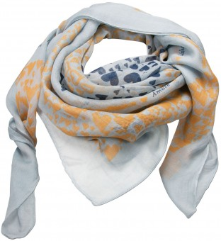 Trachten Neckerchief, Deer Print, Light Blue