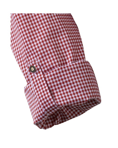 Olymp Luxor Trachtenhemd rot/weiß kariert