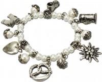Vorschau: Perlenarmband Anna cremeweiß