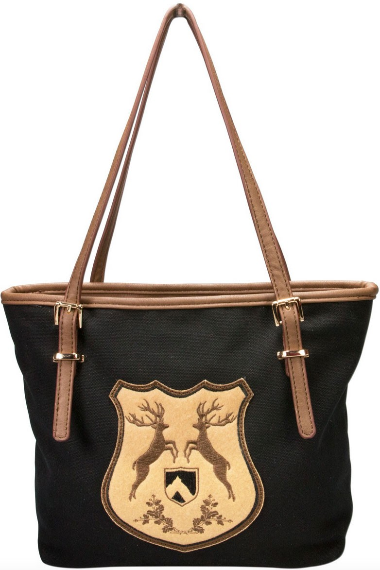 Trachten Handtasche mit Hirschwappen schwarz