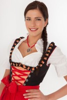 3-piece sexy black dirndl with frills