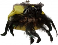 Trachtentasche Satintasche gelb