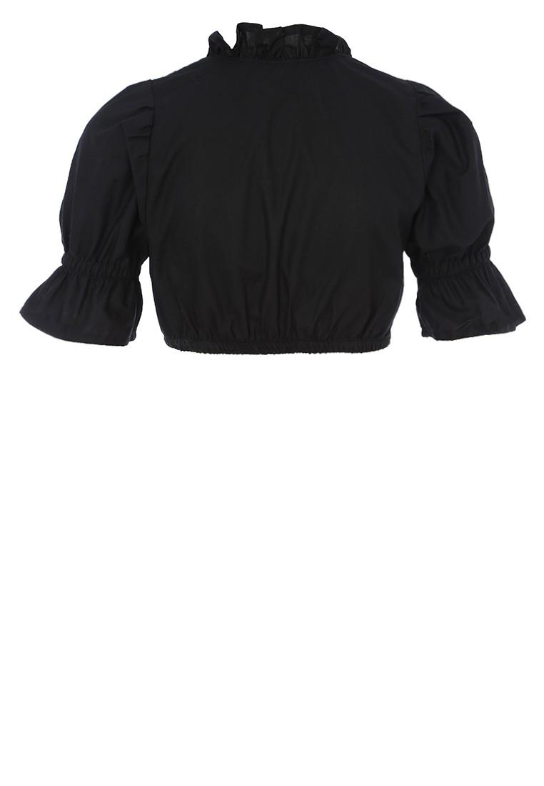 Zwarte sexy dirndlblouse