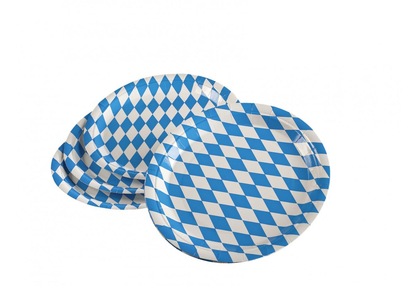 10 Pappteller Bavaria 23cm