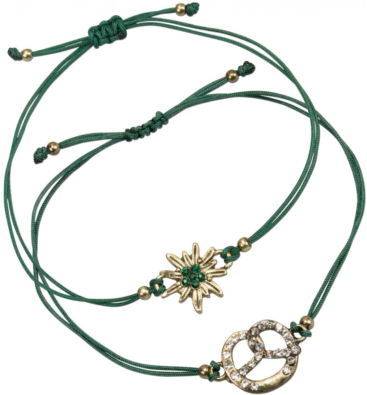 Trachten Armband Set grün