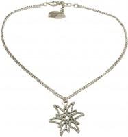 Vorschau: Trachten Halskette Edelweißglitzer