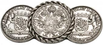 Trachten Brosche Freistaat Wappen