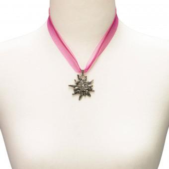 Organza Trachtenkette Theresa pink