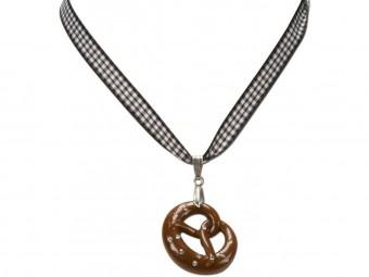Trachten Halskette Brezel schwarz