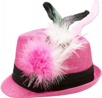 Trachten-Strohhut pink