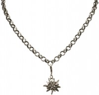 Preview: Trachten Rhinestone Edelweiss Pendant, Small