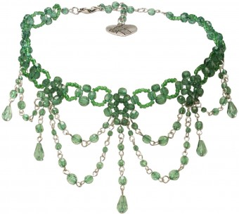 Perlenkropfkette Annabelle grün