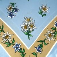 Tuch Edelweiß hellblau-beige