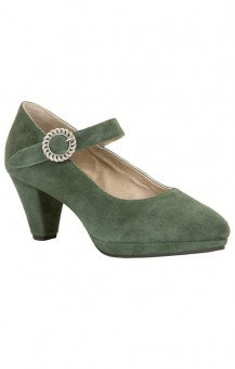 Dirndlpumps Janett in dark green
