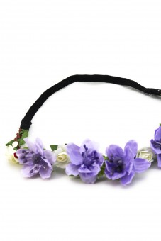 Haarband mit lila Frühlingsblüten