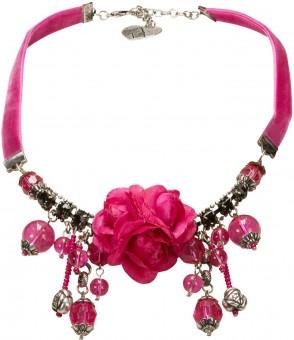 Blüten-Collier Rosalie pink