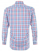 Vorschau: Olymp Hemd Trachtenhemd Modern Fit blau/rot