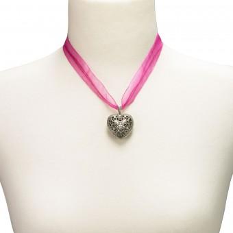Organza Trachtenkette Viktoria pink