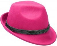 Vorschau: Trachten-Filzhut mit Feder pink