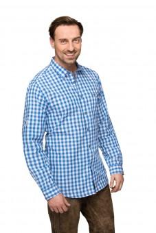 Langarmhemd Mitchel blau