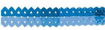 2 blaue Papiergirlanden 2m