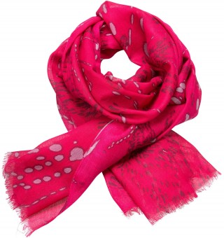 Trachten Scarf with Deer-Print, Pink