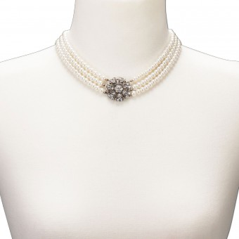 Perlenkette Madita cremeweiß