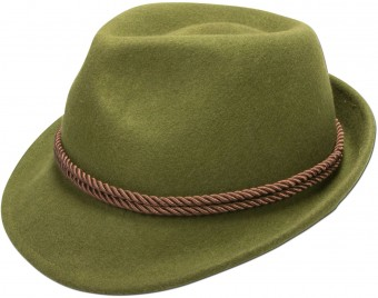 Felt Hat with Tyrolean Braid, Green