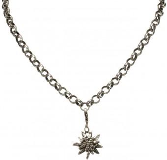 Trachten Rhinestone Edelweiss Pendant, Small