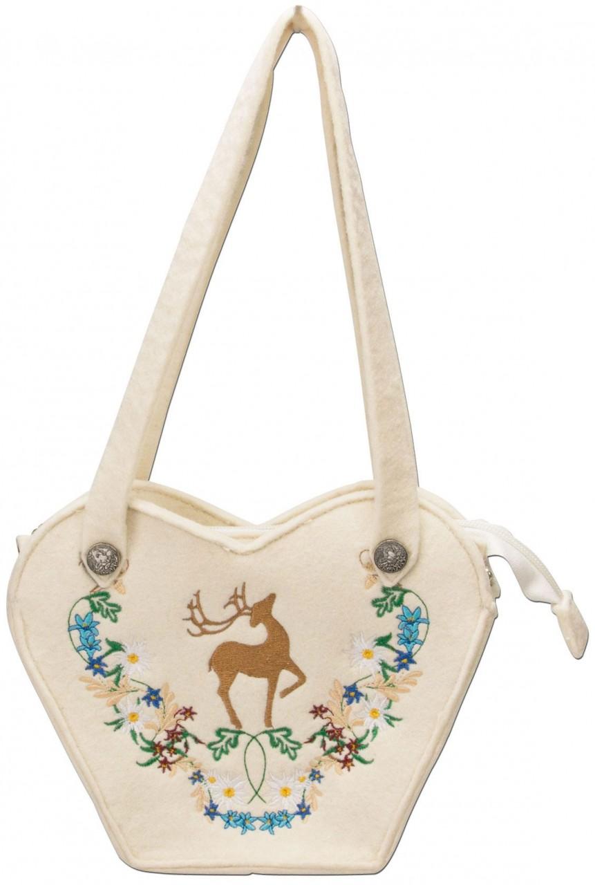 Filz-Trachtentasche Hirsch creme