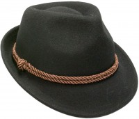 Preview: Felt Hat with Tyrolean Braid, Black