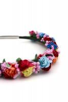 Vorschau: Haarreif mit bunten Blüten