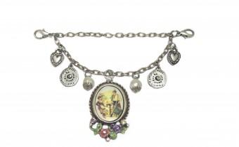 Charivari mit Amulett und Metall Anhänger für Damen