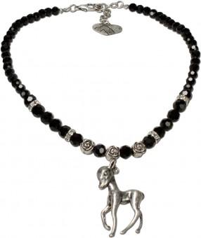 Perlenkette Juliana schwarz