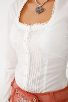 Tradycyjna bluzka Marlene Ecru