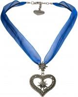 Vorschau: Organza Trachtenkette Maria blau