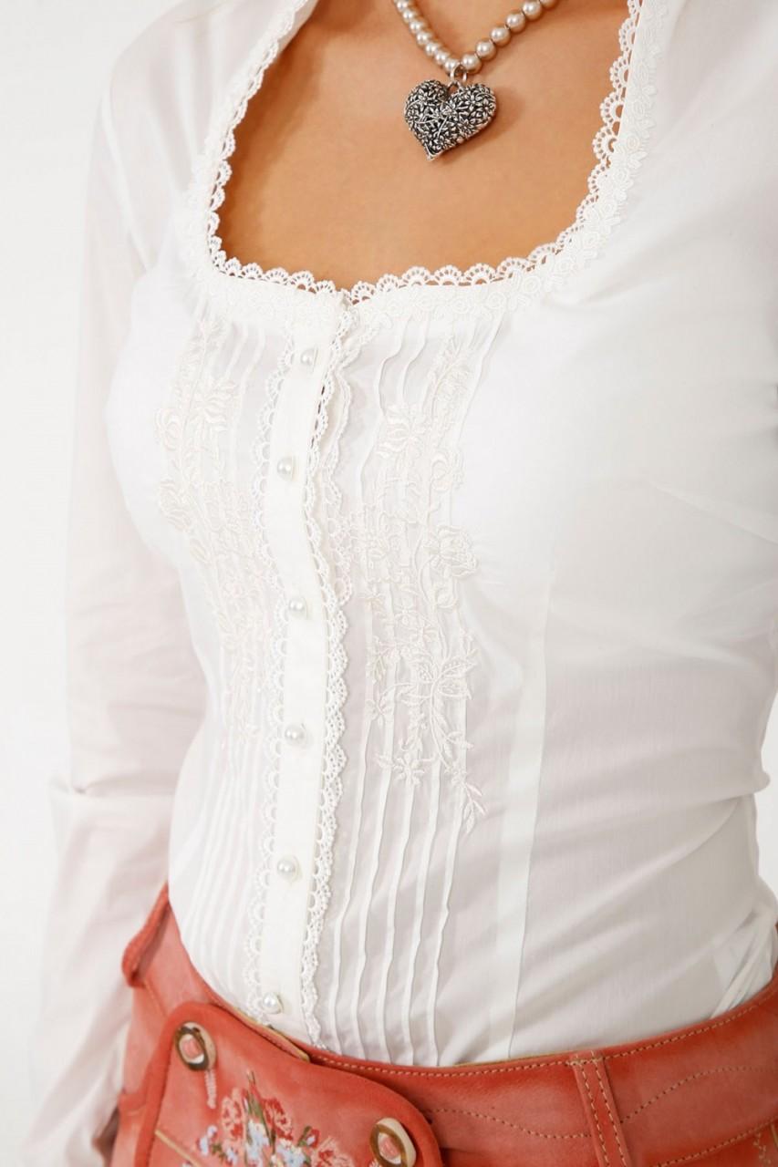 Traditionele blouse Marlene Ecru