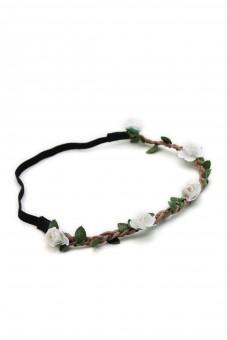 filigranes Haarband mit kleinen weißen Blüten