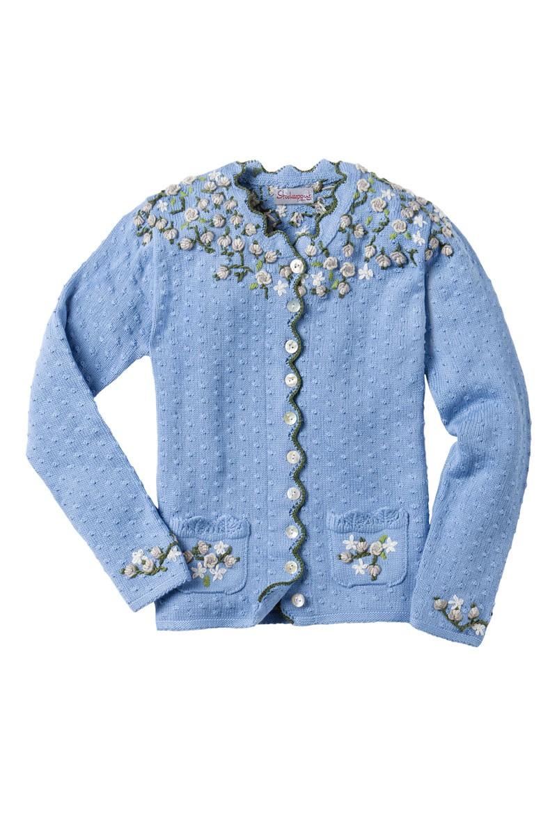 Traditionele trui Hilda lichtblauw