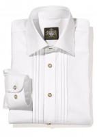 Herrenhemd mit groben Streifen weiß