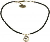 Vorschau: Perlenhalskette Strass-Brezel schwarz
