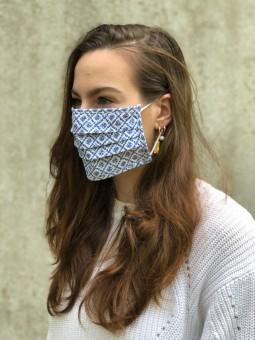 Mund-Nasen-Maske Judith blau