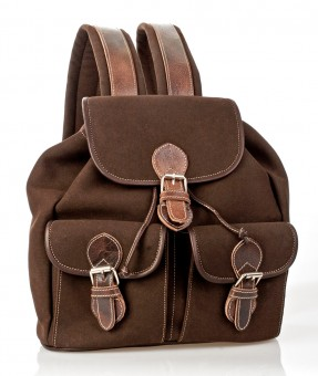 Trachten-Rucksack mit Taschen schoko