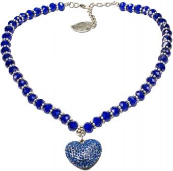 Perlenkette Mathilda blau