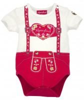 Vorschau: Body halbarm 'Hosenträger Herz' (Baby Body)