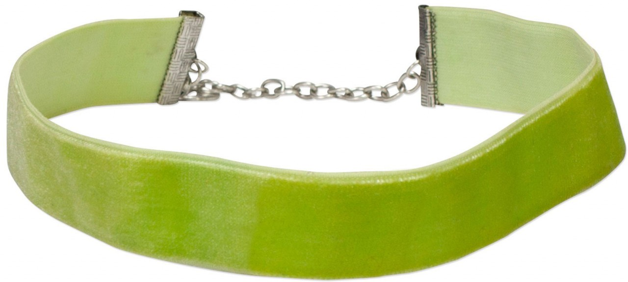 Trachten Samtkropfband breit hellgrün